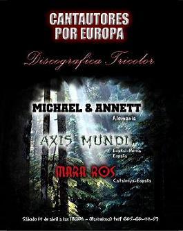 Concierto: Cantautores por Europa (España)